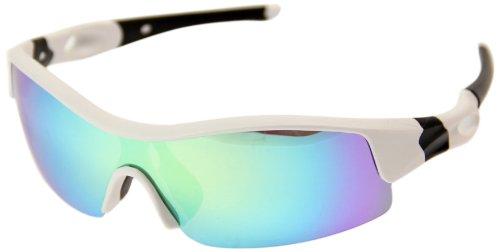 VAXPOT(バックスポット) サングラス 偏光レンズ WHITE【LENS:YELLOW MIRROR】 EG-3990