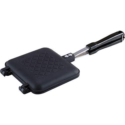 和平フレイズ 直火式ホットサンドメーカー ブラック 35.2×15.1×3.2cm みんなでチアーズ RA-9774