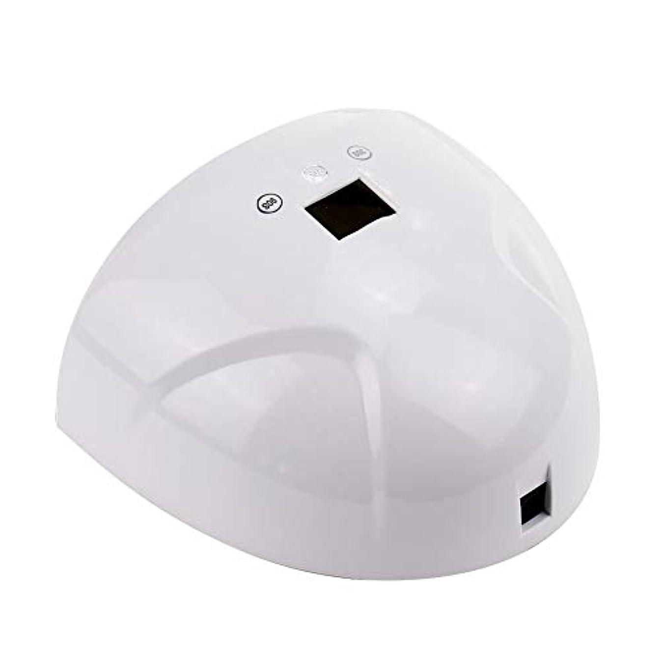 テンポ死すべきアダルトネイルドライヤー - LEDマシン光線療法ネイルマシン36Wスマートデュアル光源ネイルベーキング高速乾燥機