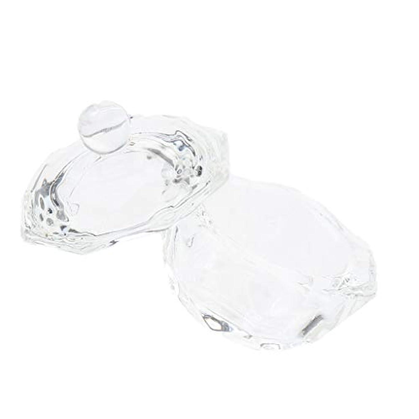 通知漫画三番DYNWAVE ネイルガラス皿 ネイルアートクリスタルカップ グラスカップ ミキシングカップ ネイルアート用品ツール
