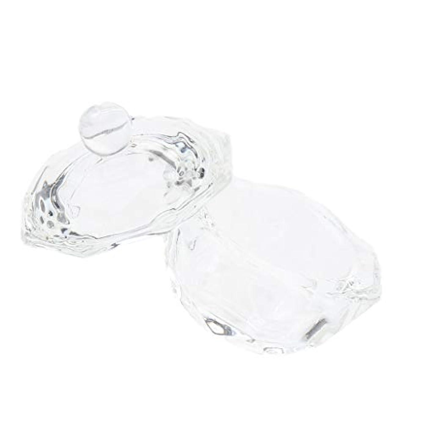 アンプここに不純DYNWAVE ネイルガラス皿 ネイルアートクリスタルカップ グラスカップ ミキシングカップ ネイルアート用品ツール