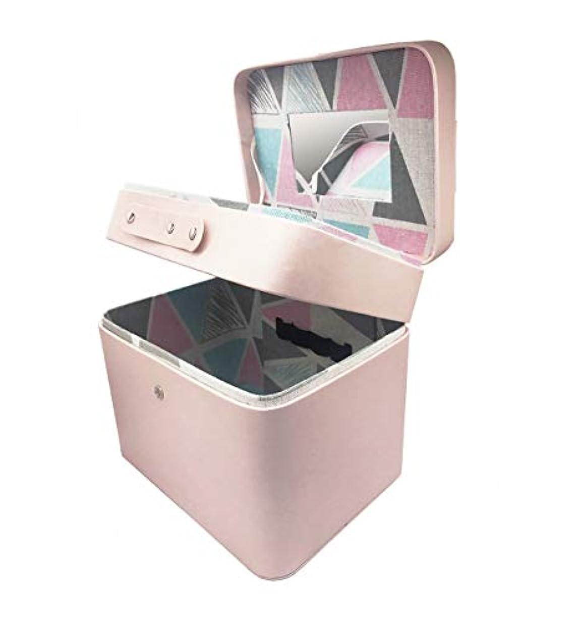存在サンダル化学者SZTulip メイクボックス コスメボックス 大容量収納ケース メイクブラシ化粧道具 小物入れ 鏡付き 化粧品収納ボックス