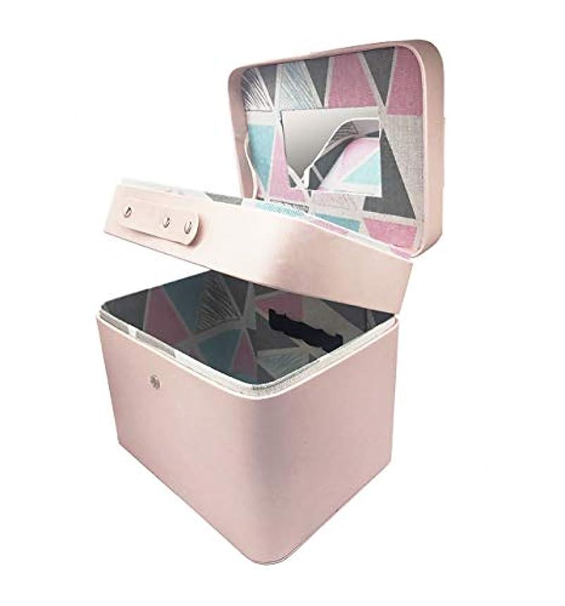 丁寧アセ少年SZTulip メイクボックス コスメボックス 大容量収納ケース メイクブラシ化粧道具 小物入れ 鏡付き 化粧品収納ボックス