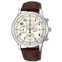 時計 セイコー Seiko メンズ SNDC31 Classic Brown Leather Beige Chronograph Dial Watch [並行輸入品]