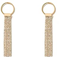 Colette Hayman - Diamante Cup Chain Tassel Earrings