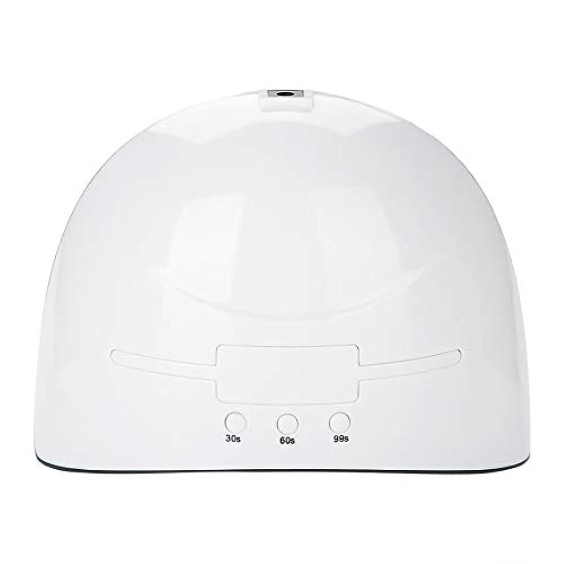 リフト動作ぶどうLEDネイルドライヤー 36w USB式 硬化用 三つタイマー ジェルネイル用 設定可能 便携 家用 美容院 ホワイト (white)