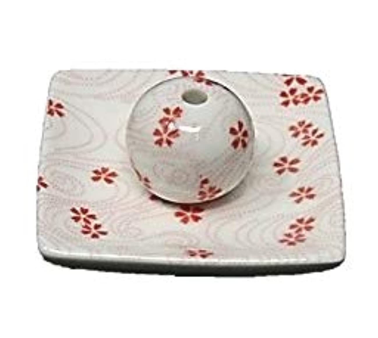 メアリアンジョーンズ揺れる仕出します桜渦 小角皿 お香立て 陶器 お香たて 製造直売 桜 さくら ACSWEBSHOPオリジナル