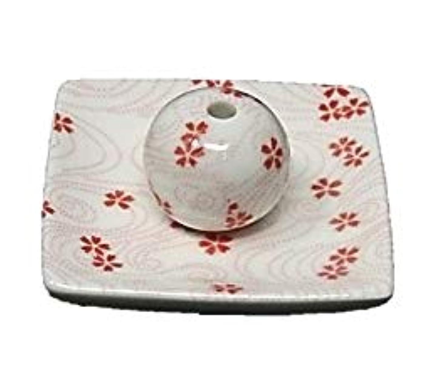 前提気性廃棄桜渦 小角皿 お香立て 陶器 お香たて 製造直売 桜 さくら ACSWEBSHOPオリジナル