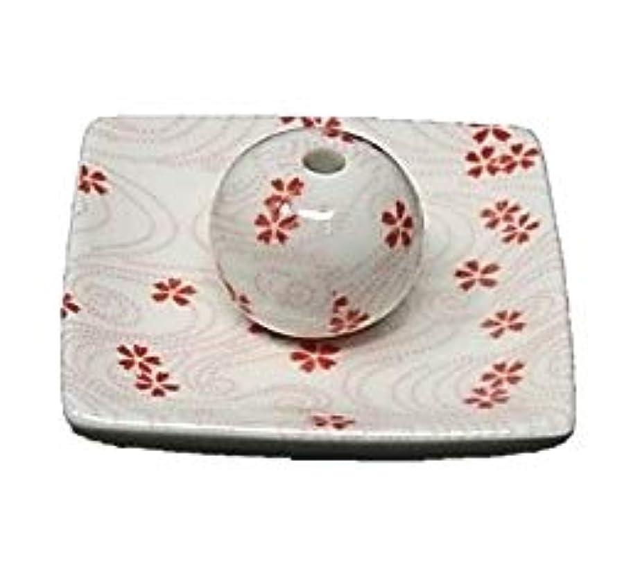 スワップサンプル百年桜渦 小角皿 お香立て 陶器 お香たて 製造直売 桜 さくら ACSWEBSHOPオリジナル