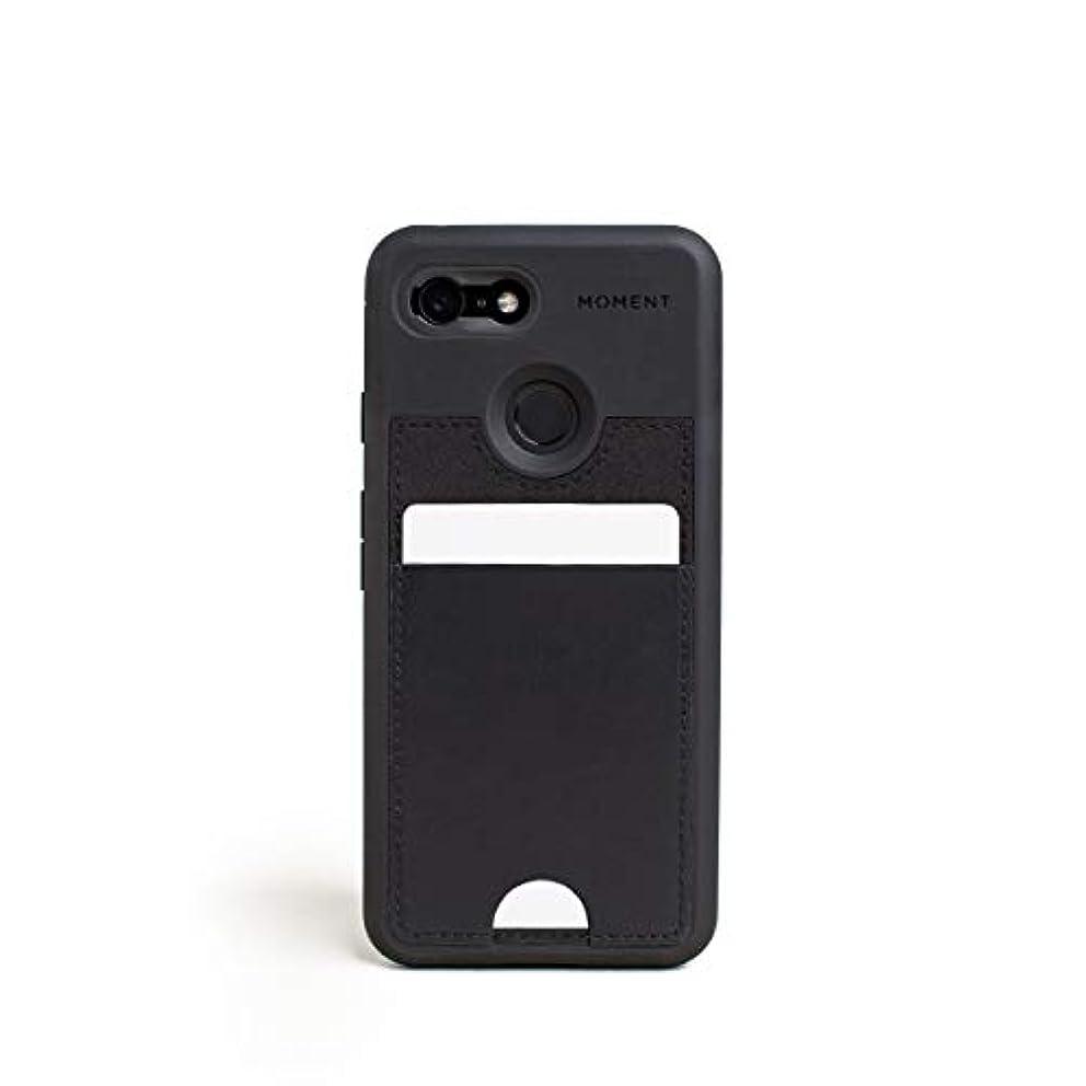 カップルブラインド四Pixel 3 ウォレットケース | Moment Photo Case - 薄型、保護、リストストラップに優しいケース カメラ愛好家向け ブラック 314-016