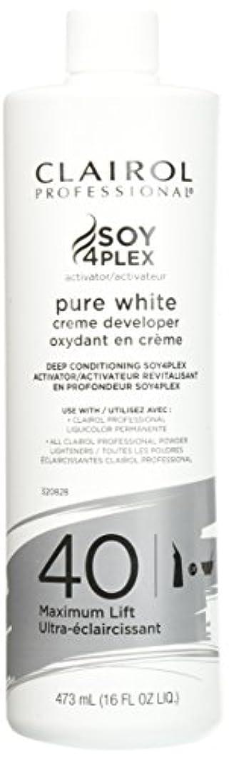 バイオレットやめるサラミClairol Professional Soy4plex Pure White Creme Hair Color Developer, 40 Volume by Clairol