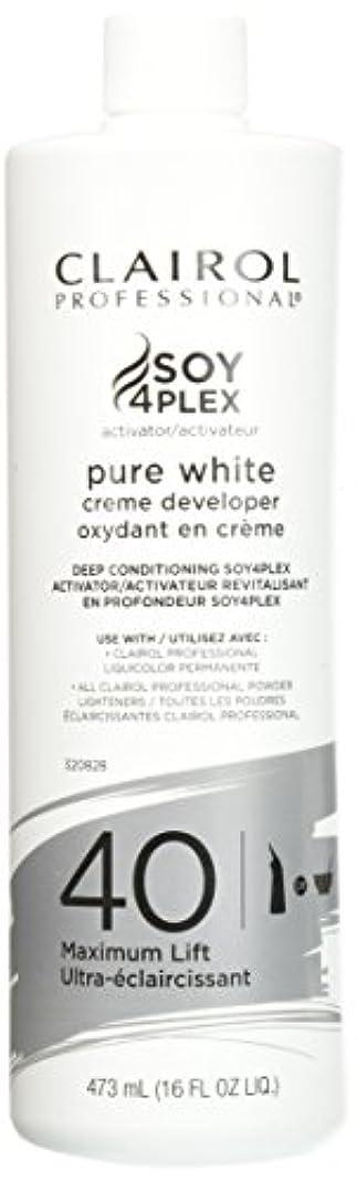バドミントンデータ独特のClairol Professional Soy4plex Pure White Creme Hair Color Developer, 40 Volume by Clairol