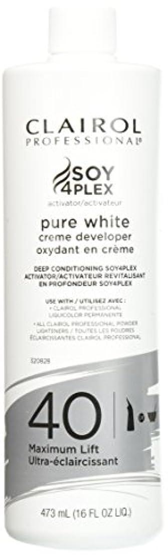 改修する百年強大なClairol Professional Soy4plex Pure White Creme Hair Color Developer, 40 Volume by Clairol