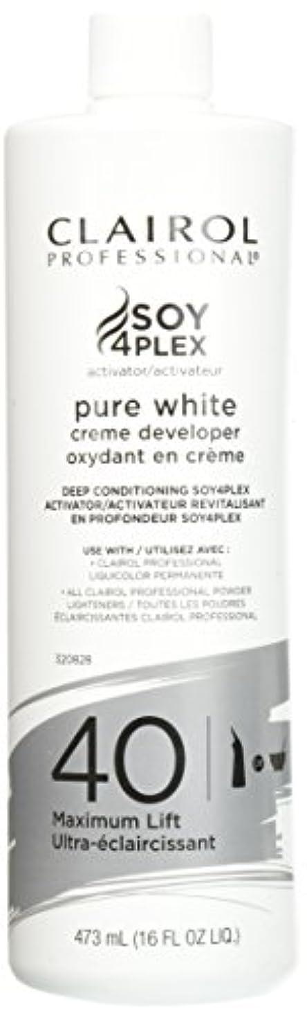 見える豆腐スタウトClairol Professional Soy4plex Pure White Creme Hair Color Developer, 40 Volume by Clairol