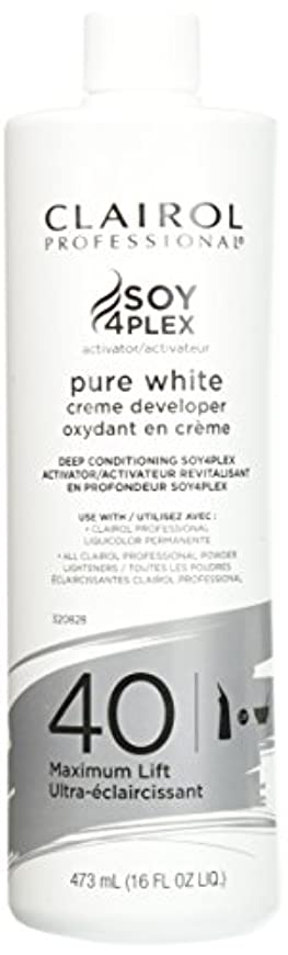 脇に召喚する確認Clairol Professional Soy4plex Pure White Creme Hair Color Developer, 40 Volume by Clairol