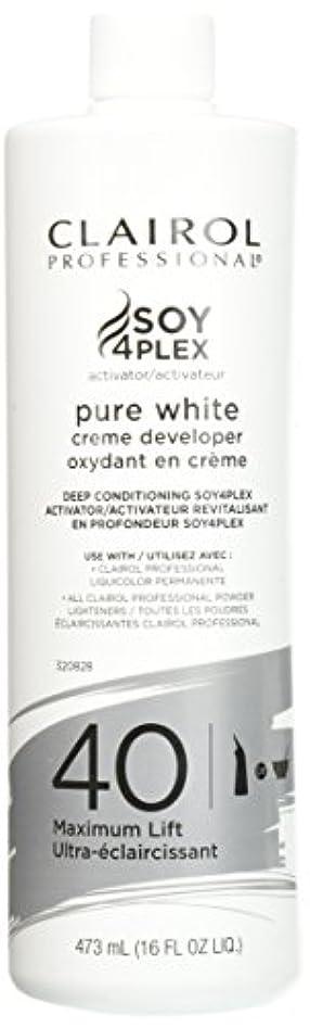 フェードアウト先例別れるClairol Professional Soy4plex Pure White Creme Hair Color Developer, 40 Volume by Clairol