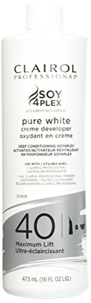 芸術的疎外根絶するClairol Professional Soy4plex Pure White Creme Hair Color Developer, 40 Volume by Clairol