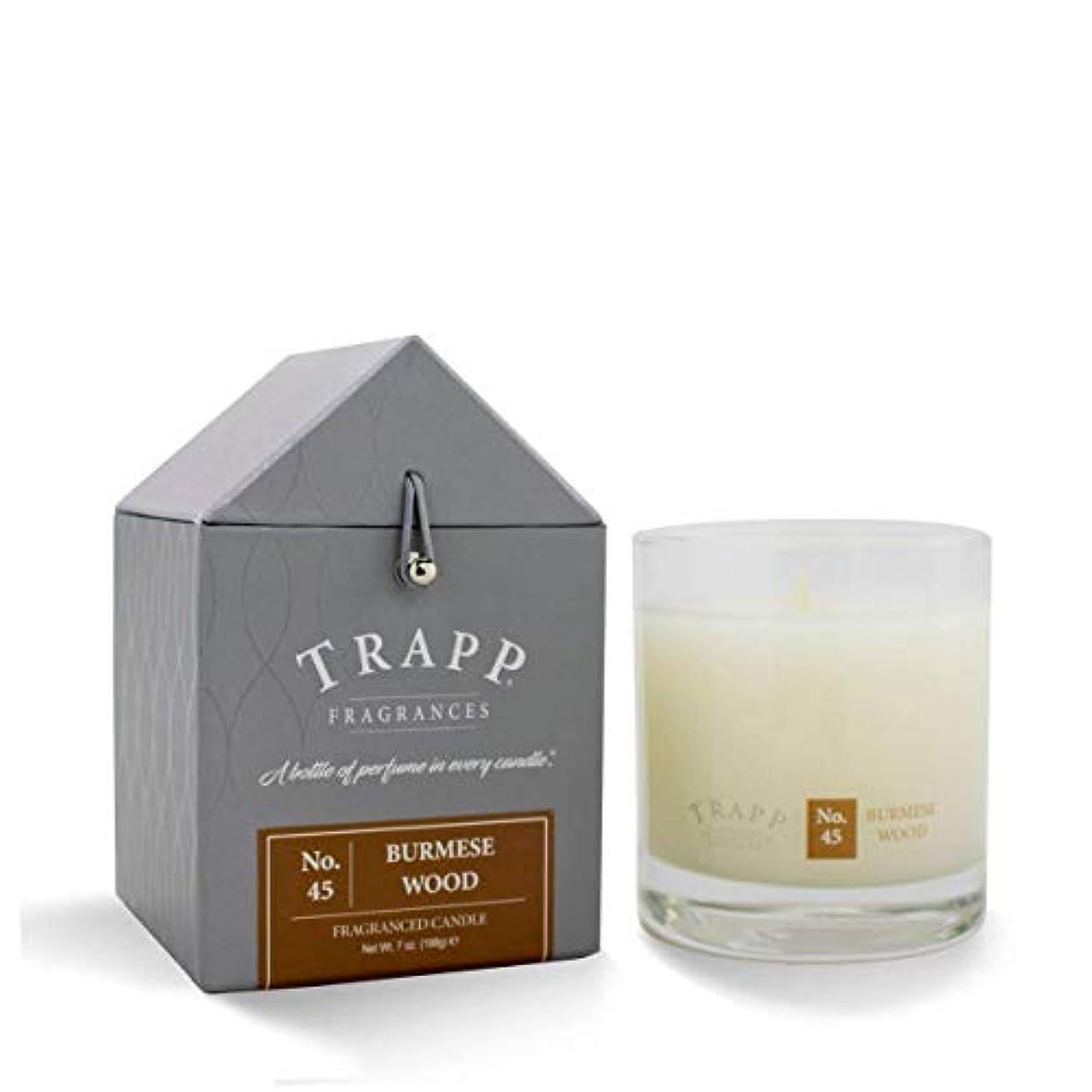 四面体魚特権的Trapp Candle No. 45 Burmese Wood 7oz by Trapp