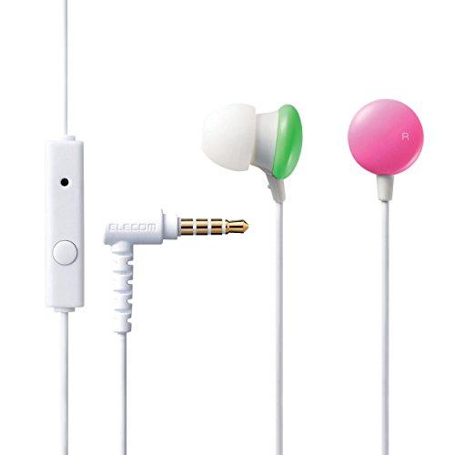 ELECOM/エレコム スマートフォン用ステレオヘッドホンマイク Colors ネオン1 EHP-CC100MNE1