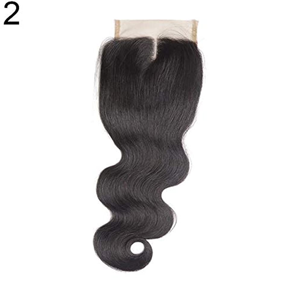 眉をひそめる献身応答slQinjiansav女性ウィッグ修理ツールブラジルのミドル/フリー/3部人間の髪のレース閉鎖ウィッグ黒ヘアピース
