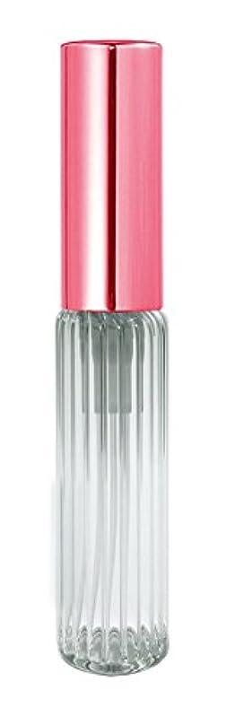 おいしい有彩色のプレミア60503 グラスアトマイザー ストライプ ピンクキャップ