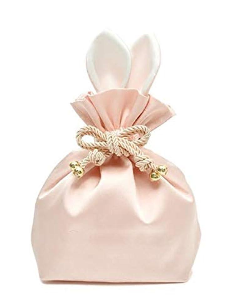 いっぱい慰めメロドラマウサギ コスメポーチ 化粧ポーチ 化粧品 たっぷり 収納 ポーチ 化粧バッグ メイクポーチ コスメケース 巾着 旅行 (ピンク)