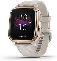 Garmin Venu Sq Music, GPS Fitness Smartwatch, Light Sand/Rose Gold