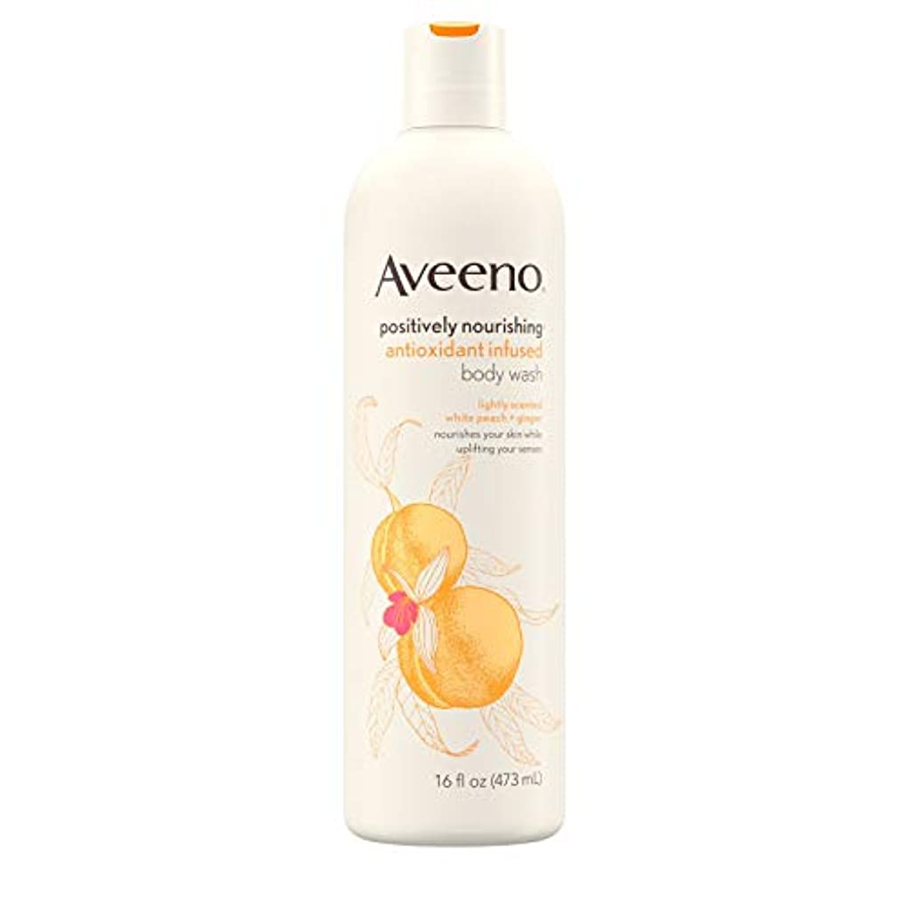 摘むドラフト牛肉Aveeno Positively Nourishing Antioxidant Infused Body Wash, 16 Oz by Aveeno