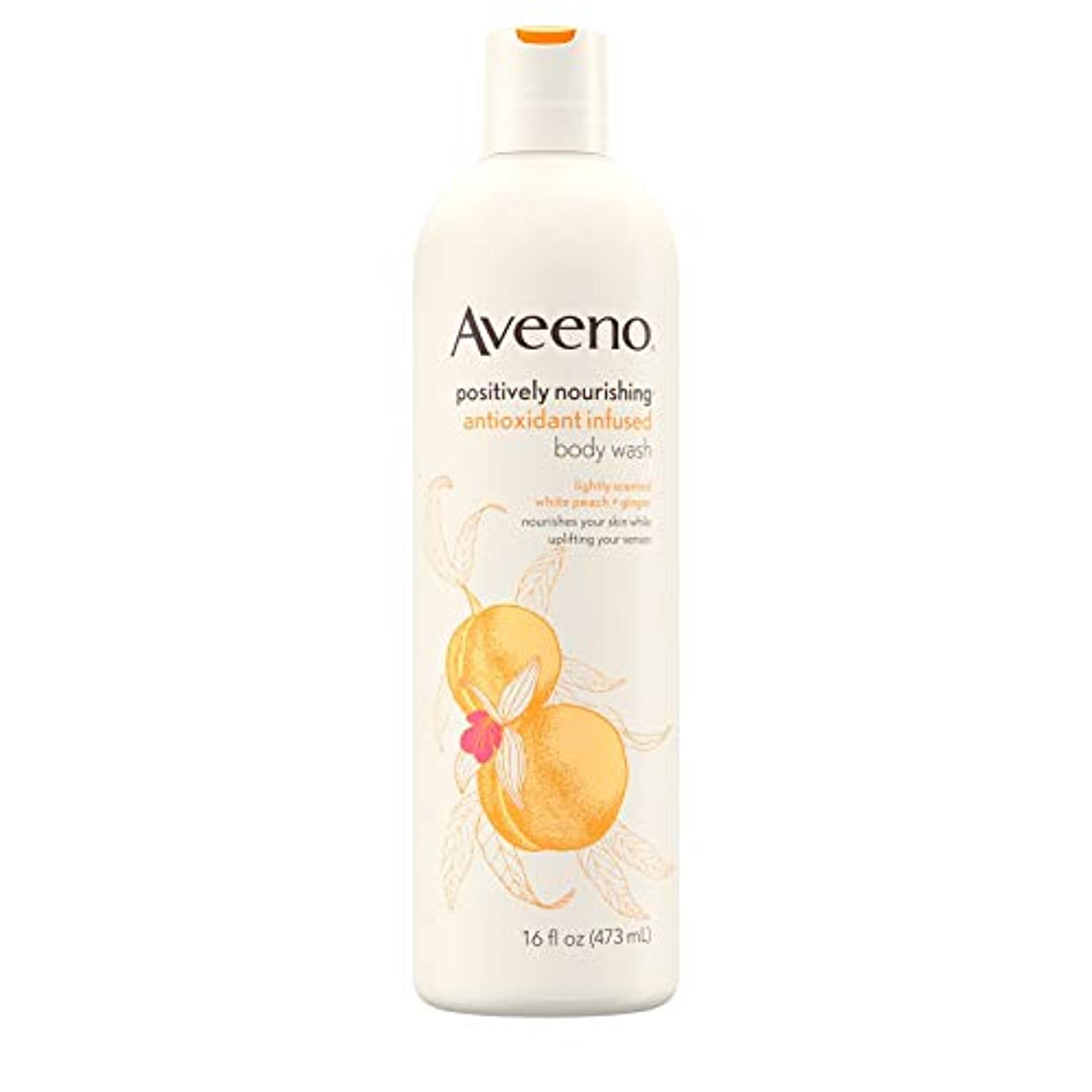 石膏厳容赦ないAveeno Positively Nourishing Antioxidant Infused Body Wash, 16 Oz by Aveeno