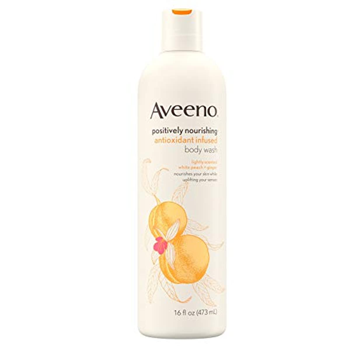 弾力性のある無駄だ生むAveeno Positively Nourishing Antioxidant Infused Body Wash, 16 Oz by Aveeno