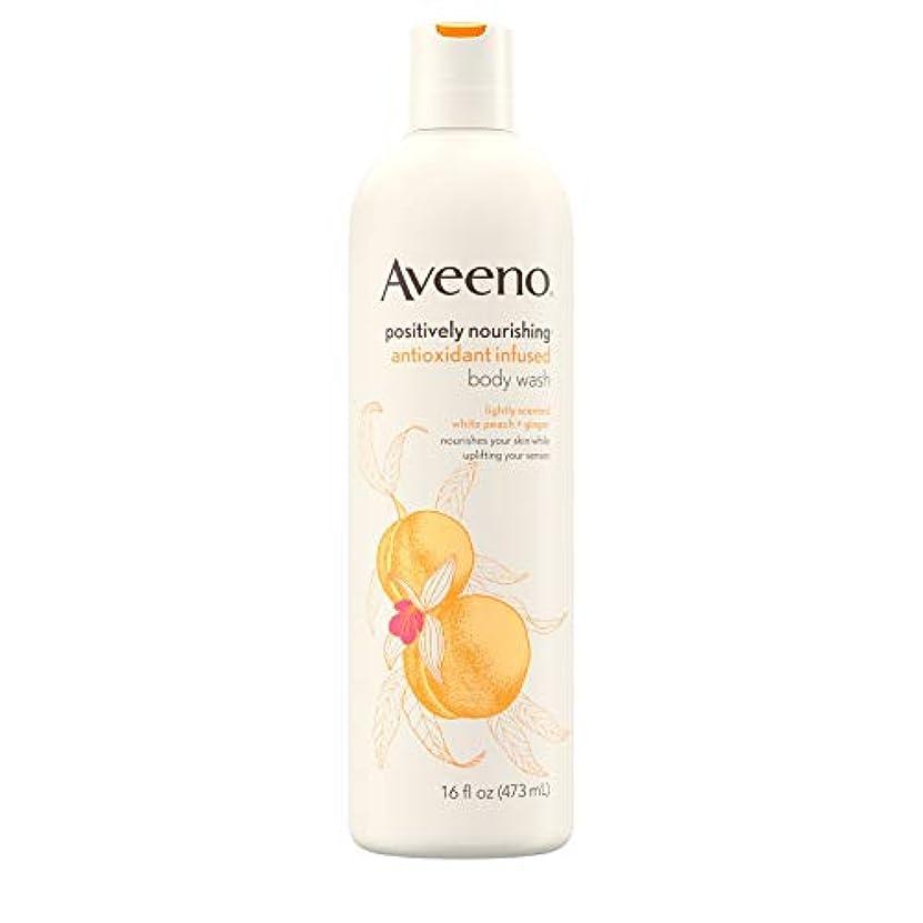 思いやり避難するキネマティクスAveeno Positively Nourishing Antioxidant Infused Body Wash, 16 Oz by Aveeno