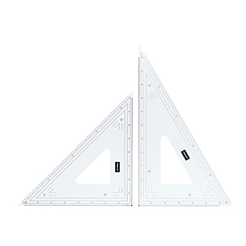 ウチダ 三角定規 24cmx2㎜ 縮尺目盛付