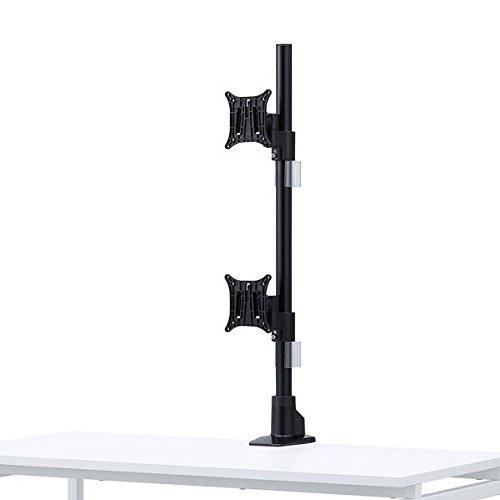 サンワサプライモニタアーム(液晶ディスプレイ・上下2面・水平・ケーブルホルダー付き・クランプ・VESA)CR-LA1503BK
