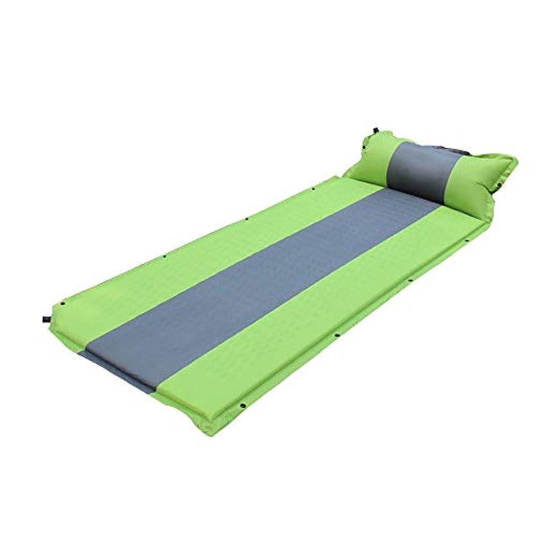チョップ治す私自動インフレータブルクッションシングルダブル屋外テント睡眠マット大人用インフレータブルマットレスポータブルランチブレイクマット