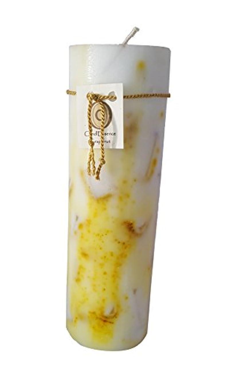 十二放つ恵みハンドメイドScented Candle – Long Burningピラー – グレープフルーツ香り L GRPFRT