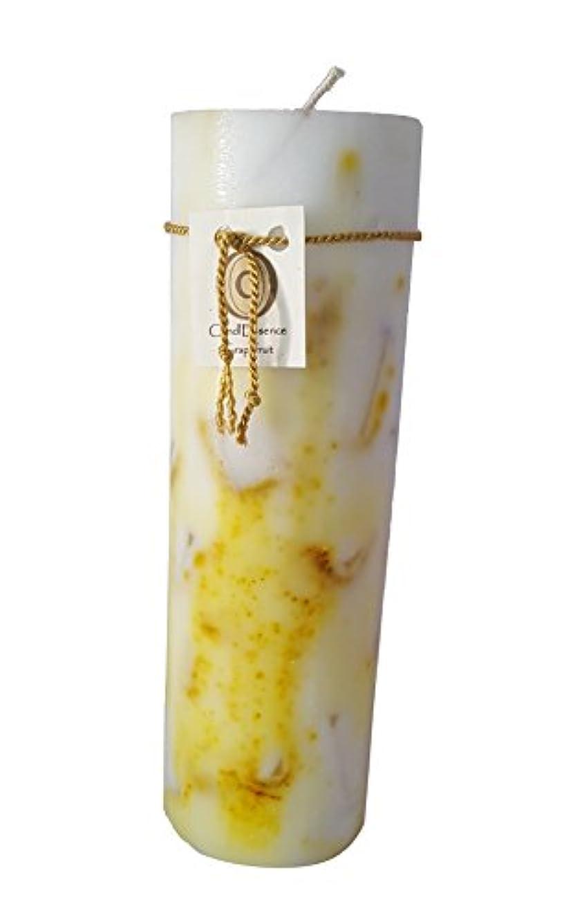 ワインかんたん縮約ハンドメイドScented Candle – Long Burningピラー – グレープフルーツ香り L GRPFRT