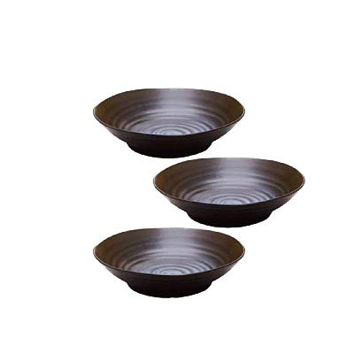 テーブルウェアイースト (黒マット)パスタ皿・カレー皿 3枚セット 大皿 和食器 黒い食器 黒 23...