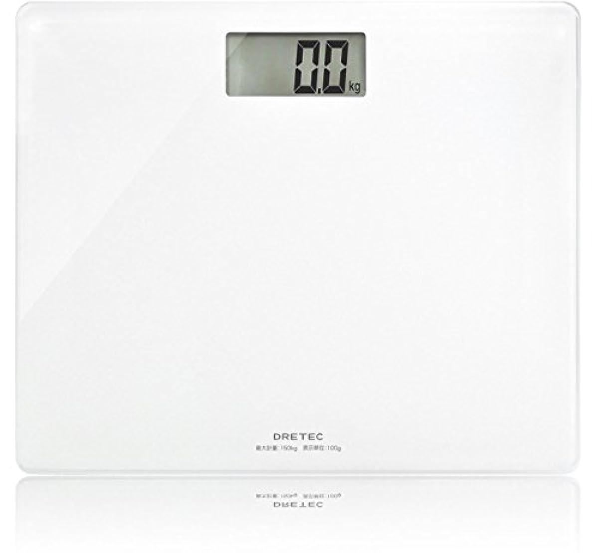 袋安いです協会ドリテック 体重計 ボディスケール グラッセ ホワイト BS-159WT