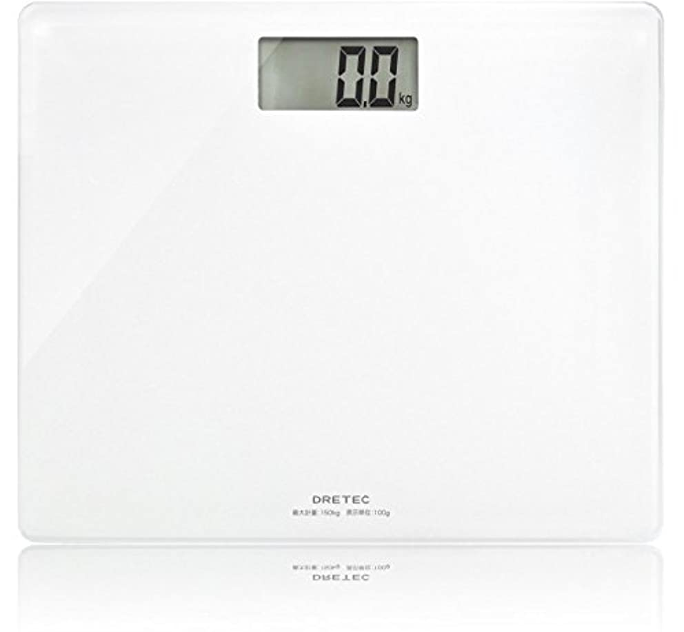 発行するセメント学校の先生ドリテック 体重計 ボディスケール グラッセ ホワイト BS-159WT