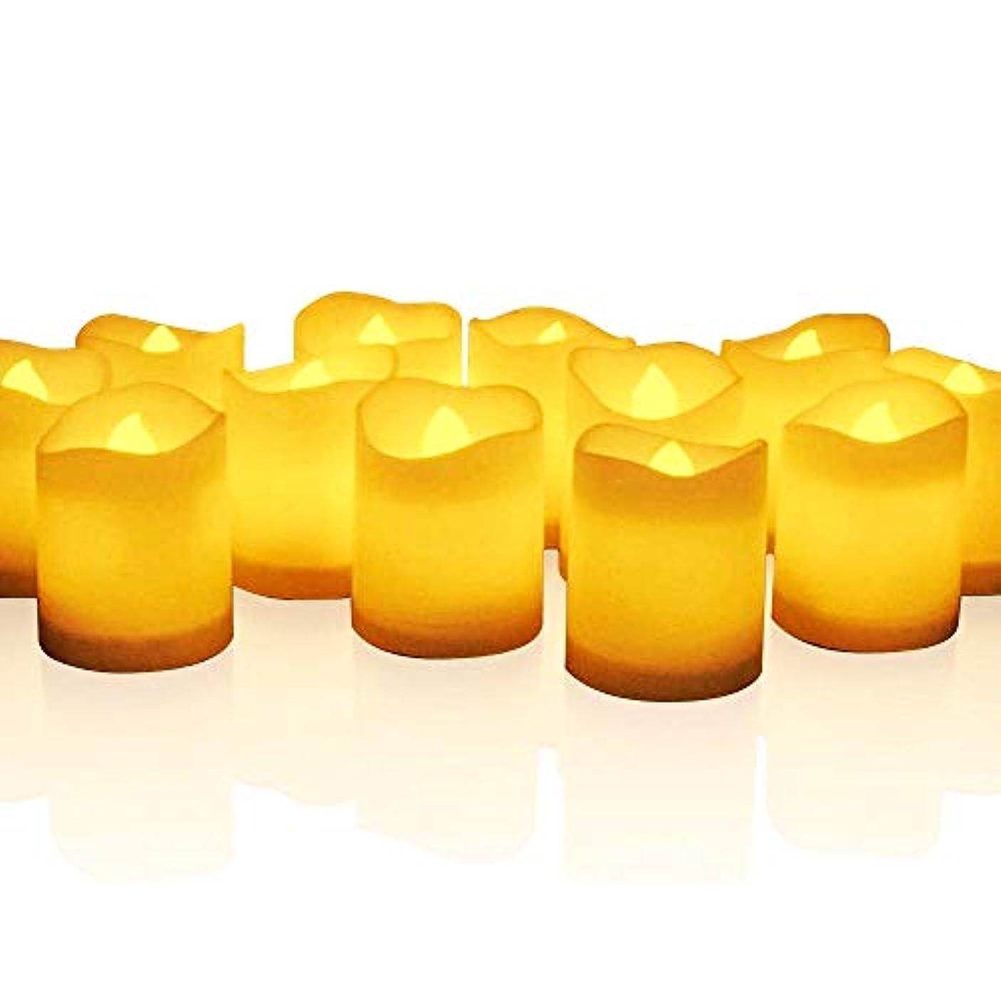 気難しいコンプリートピアースmidafon 24個ちらつきTealight Candles電池式Lasts Over 100時間