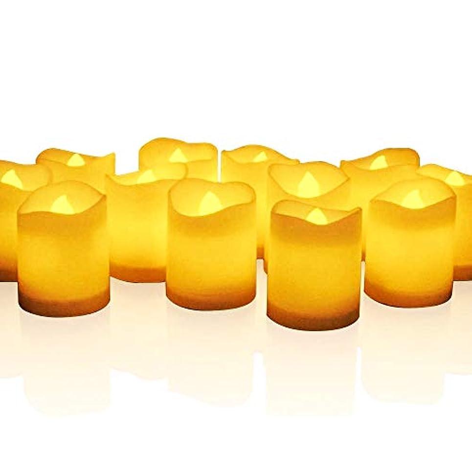 どっち主人まとめるmidafon 24個ちらつきTealight Candles電池式Lasts Over 100時間