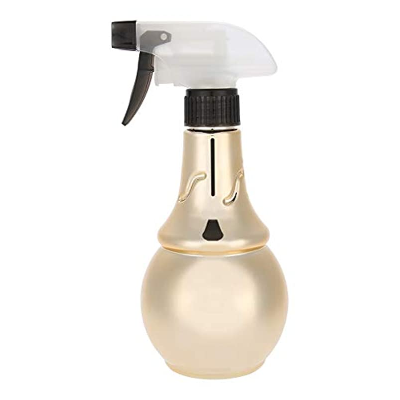 腕自己役立つ理髪水噴霧器、詰め替え式理髪スプレーボトル散髪ツール(ゴールド)