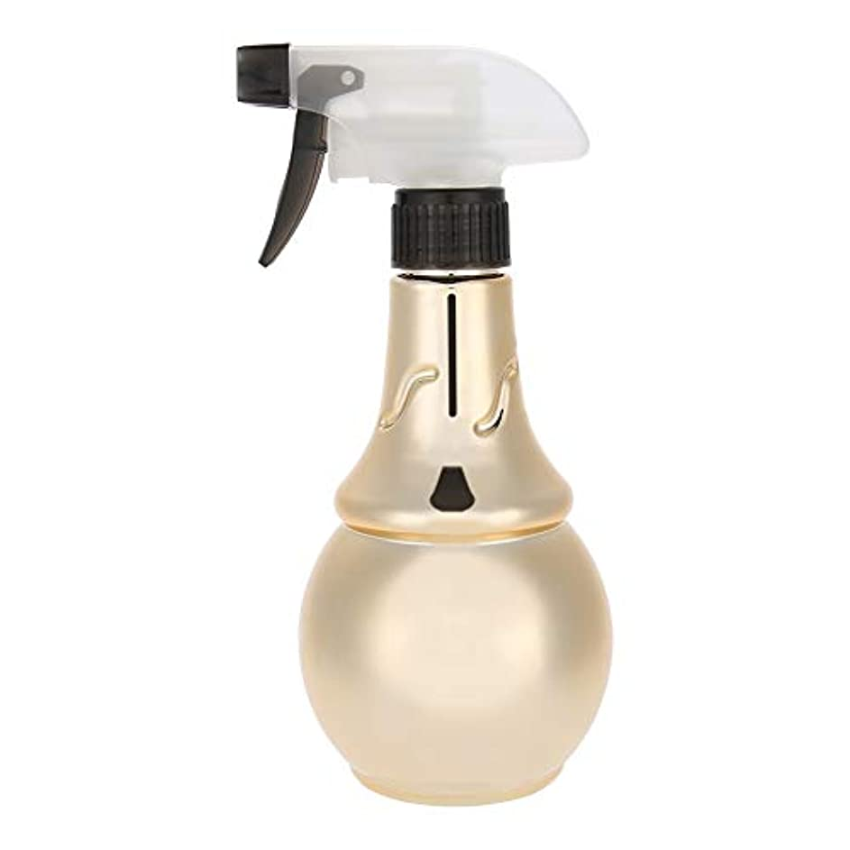 音楽家禁止充電理髪水噴霧器、詰め替え式理髪スプレーボトル散髪ツール(ゴールド)