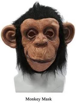 【ノーブランド品】猿 マスク コスチューム用小物