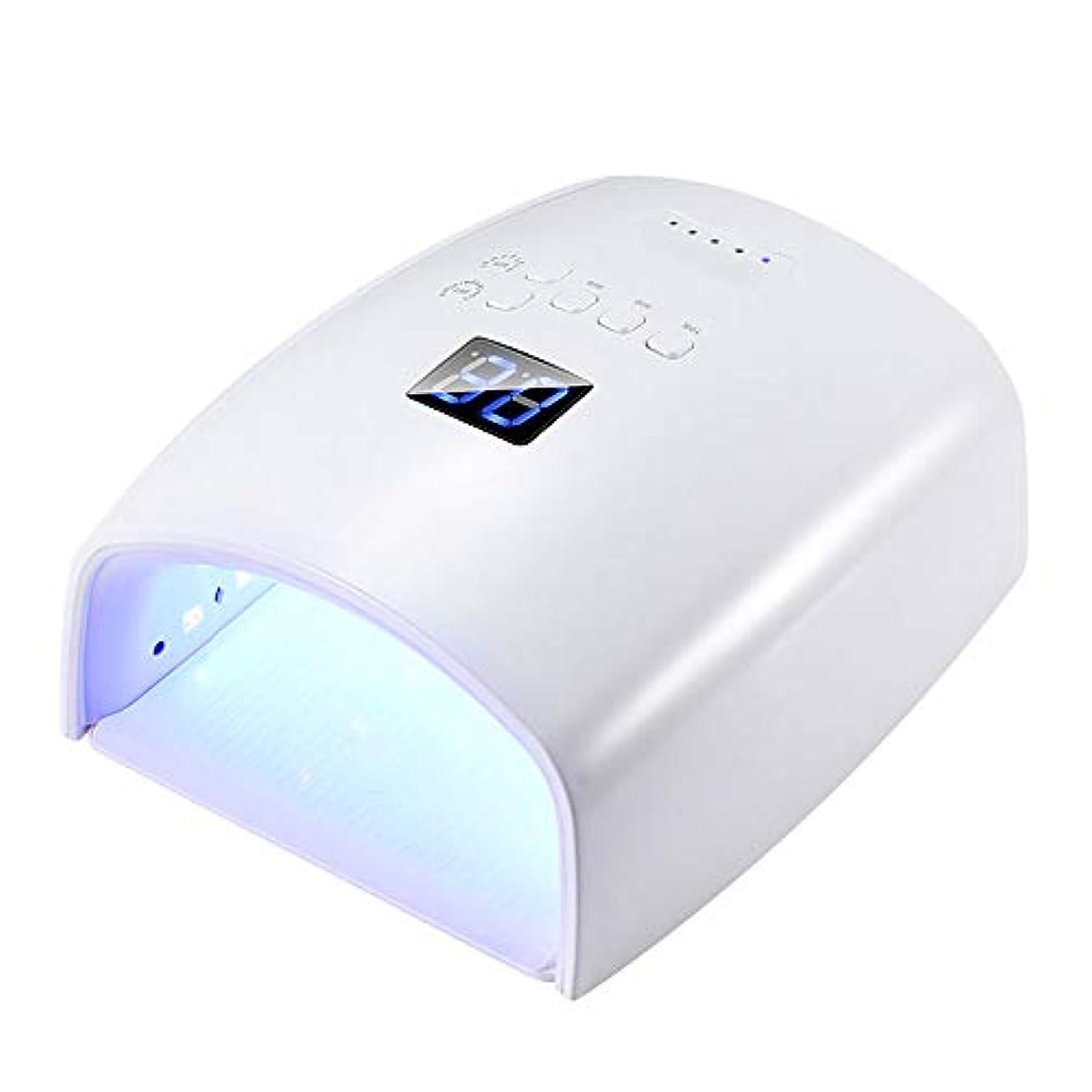 つまらない回転する精巧な釘のドライヤー - 自動赤外線センサー、二重光源のLEDランプのゲルのドライヤーのマニキュアが付いている紫外線携帯用LEDの釘ランプ