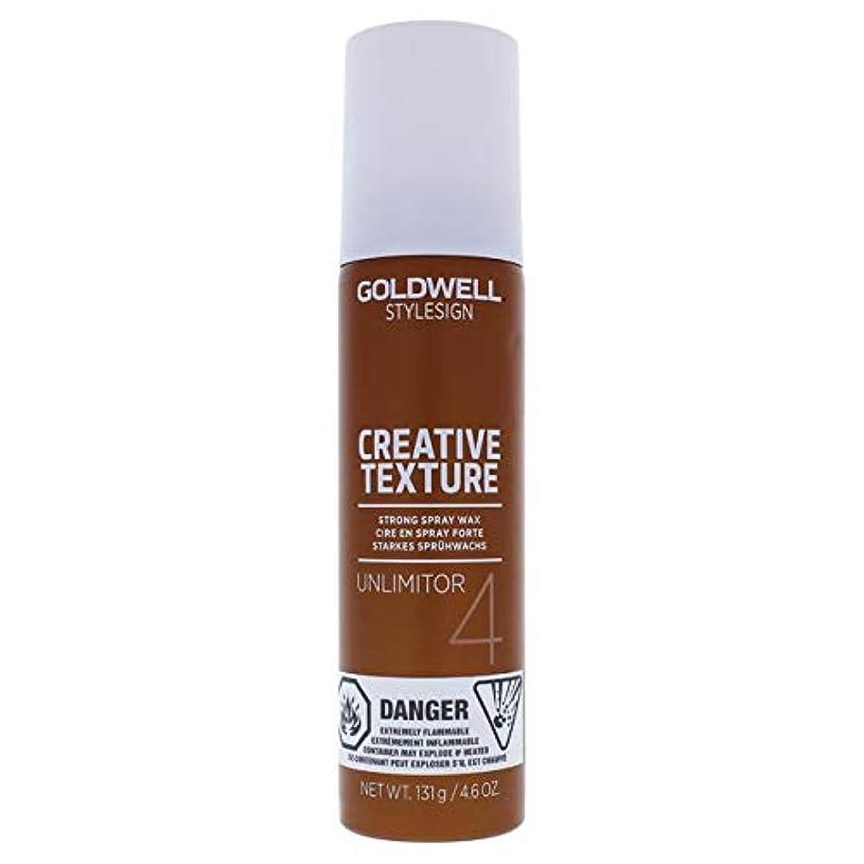 貞強制血色の良いGoldwell スタイルサインテクスチャ4 - Unlimitorがワックススプレー - 4.6オンス