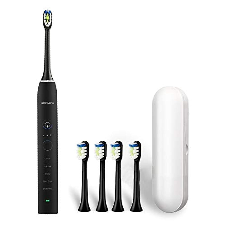 ギャングスターウッズ概要YPZHEN Ximalong 15クリーニングモードIPX7防水USB充電器ソニック電動歯ブラシ (色 : Black)