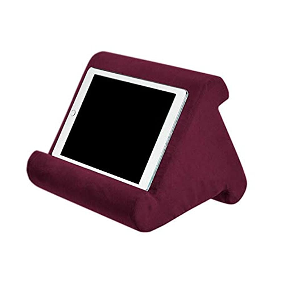 藤色変動する詳細にLIFE 家庭用タブレット枕ホルダースタンドブック残り読書サポートクッションベッドソファマルチアングルソフト枕ラップスタンドクッション クッション 椅子