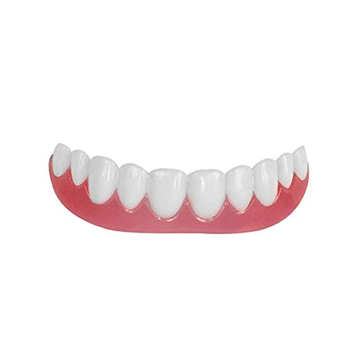 シリコーン模擬歯上歯、ホワイトニングデンタルステッカー、歯ホワイトニングセット(3pcs),A