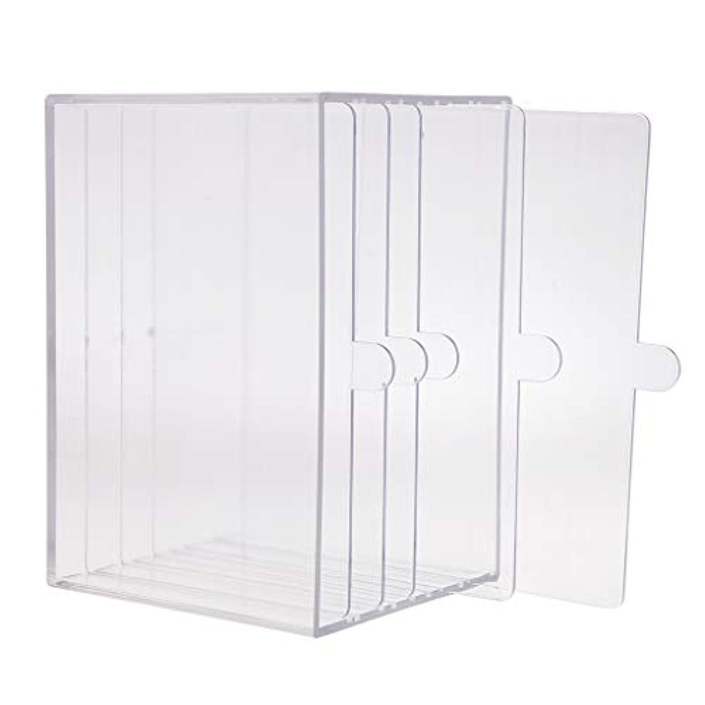 連合ゴム安心ネイルアート ディスプレイケース 収納ボックス ネイルチップ 収納容器 サロンツール プロ用